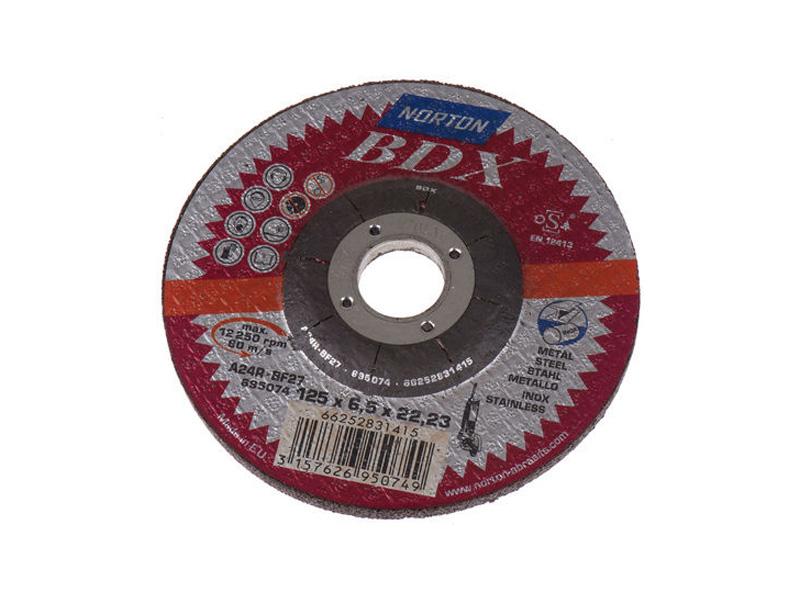 DISCO SMERIGLIO 125X6.5 INOX BDX (5(10