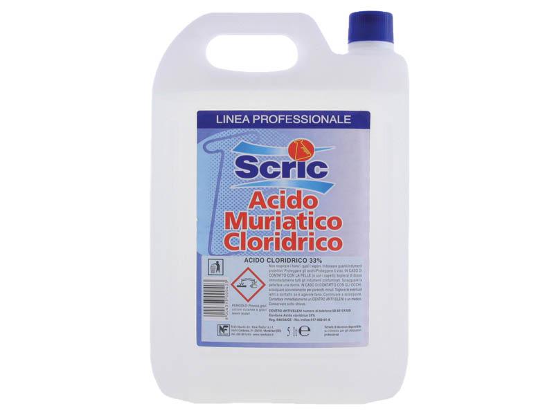 ACIDO MURIATICO PURO LT.5 33% (4)