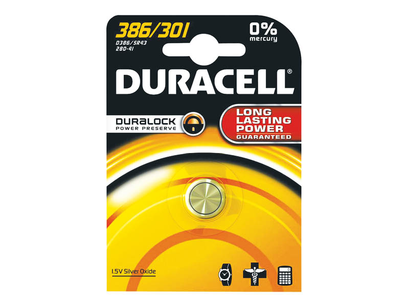 DURACELL 386/301 OROLOGIO (10