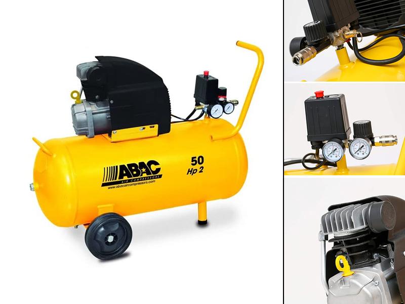 COMPRESSORE 50LT 2HP 8b 222l/m ABAC