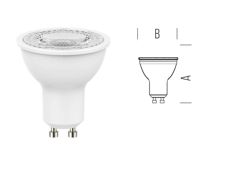FARETTO LED GU10 4.2W 370L C. f.36° D.50