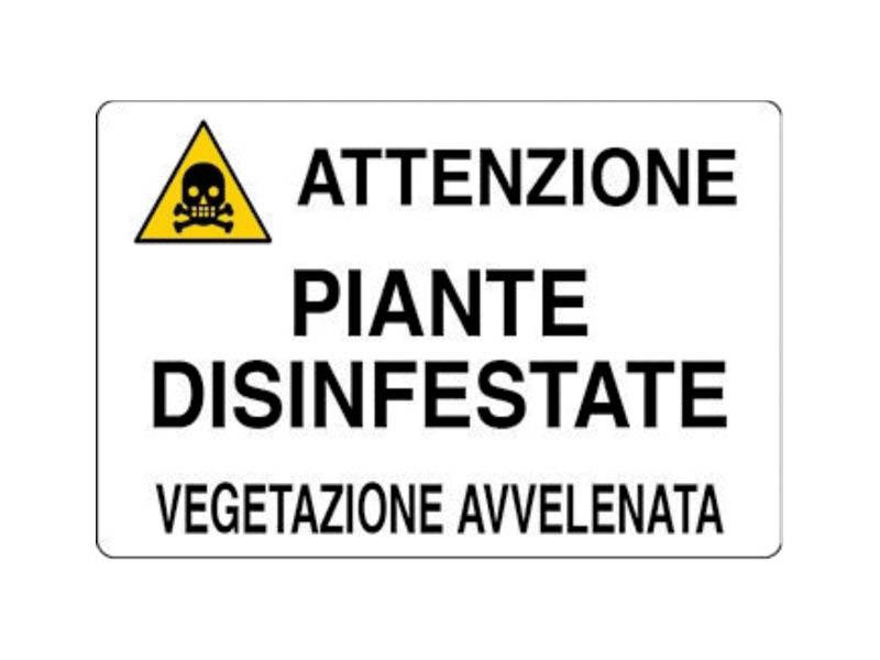 CARTELLO ATT.PIANTE DISINF. 20x30 ALL