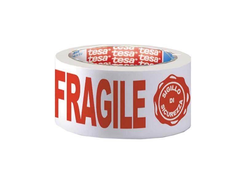 "NASTRO ADES.50X66MT SCRITTA ""FRAGILE""(6)"