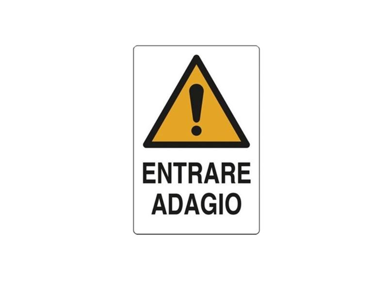 CARTELLO ALL. ENTRARE ADAGIO 20X30 (10)