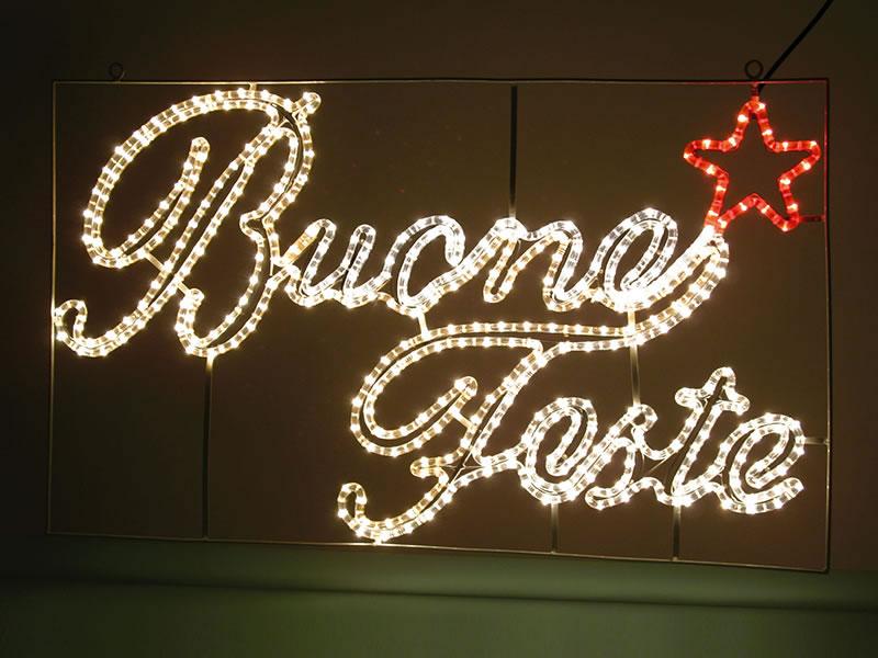 BUONE FESTE LED  240V L100XH60cm 60230